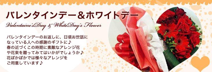 バレンタインデー・ホワイトデーに贈るお花