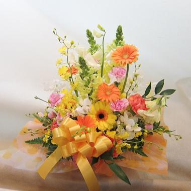 傘寿祝い アレンジ花