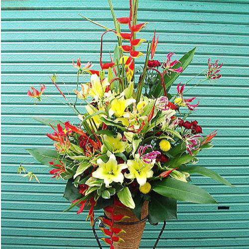 病院の開院祝いのスタンド花